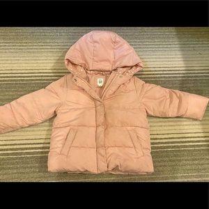 Girls Pink GAP puffer jacket